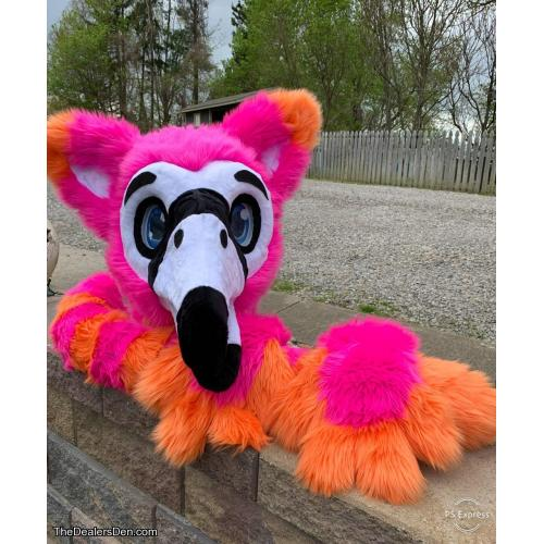 Flamingo Gryphon Fursuit