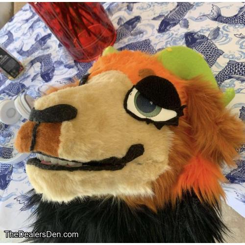 Goat fursuit head and tail partial