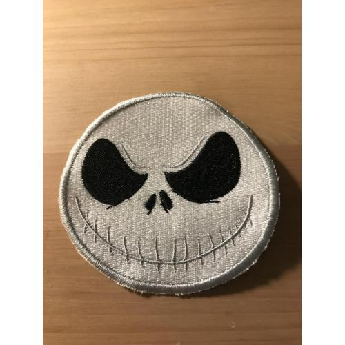 Embroidered Jack Skeleton head