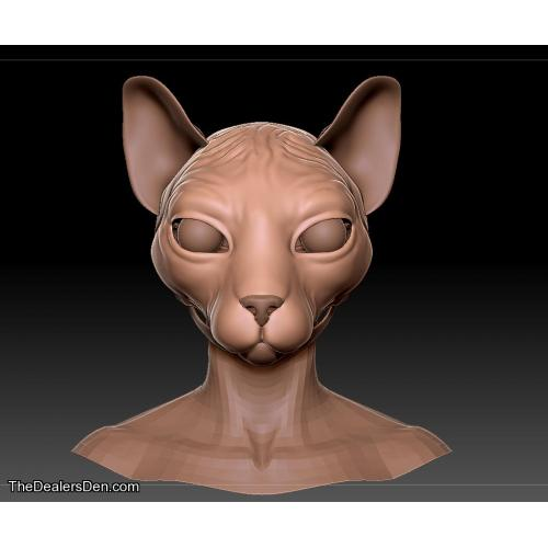 Sphynx realistic furbase printable model kit (  teeth)