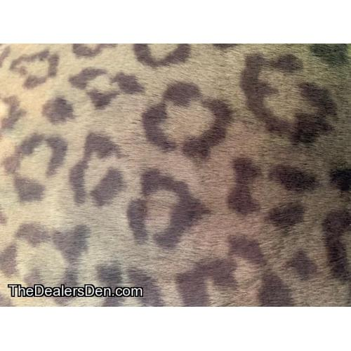 REDUCED: Green Leopard Fur