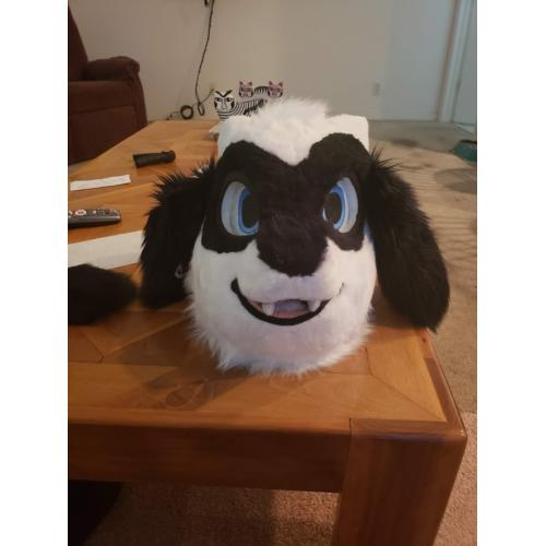 Furry Costume Cosplay Fursuit Pokemon White Riolu Head