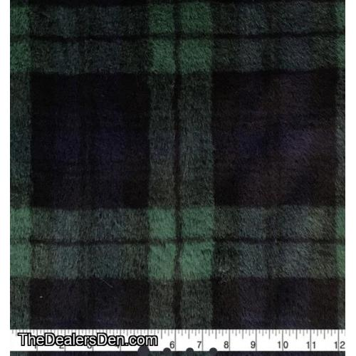 Blue/Green plaid fur