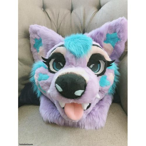 Pastel Fursuit Head (With Partial Option)