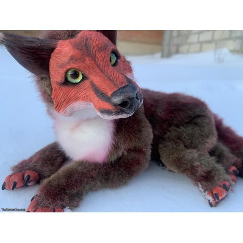 Fox art doll, 10,56 in height