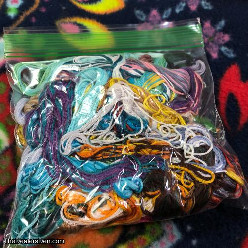 Bag of Ends | Hand Dyed Embroidery Floss for Fursuits and Fiber Crafts