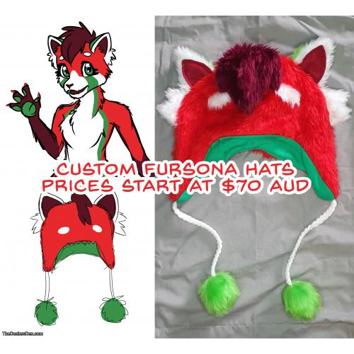 Custom Fursona Hat Commissions - Please read description