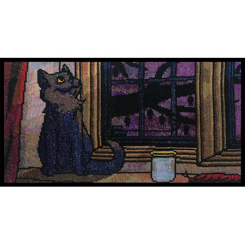 Halloween Kitty Loose Tapestry