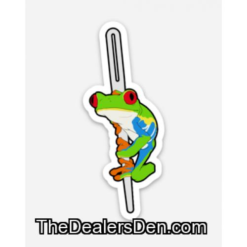 Helpful Frog Vinyl Diecut Sticker