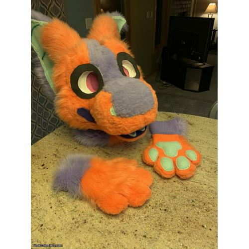 ~Colorful Furred Raptor Mask Mini Partial!~