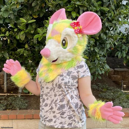 Daisy the Spring Mouse Fursuit Partial Premade