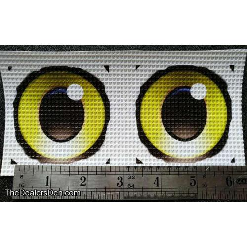 Printed eyes v.2 YELLOW (2½ inch)