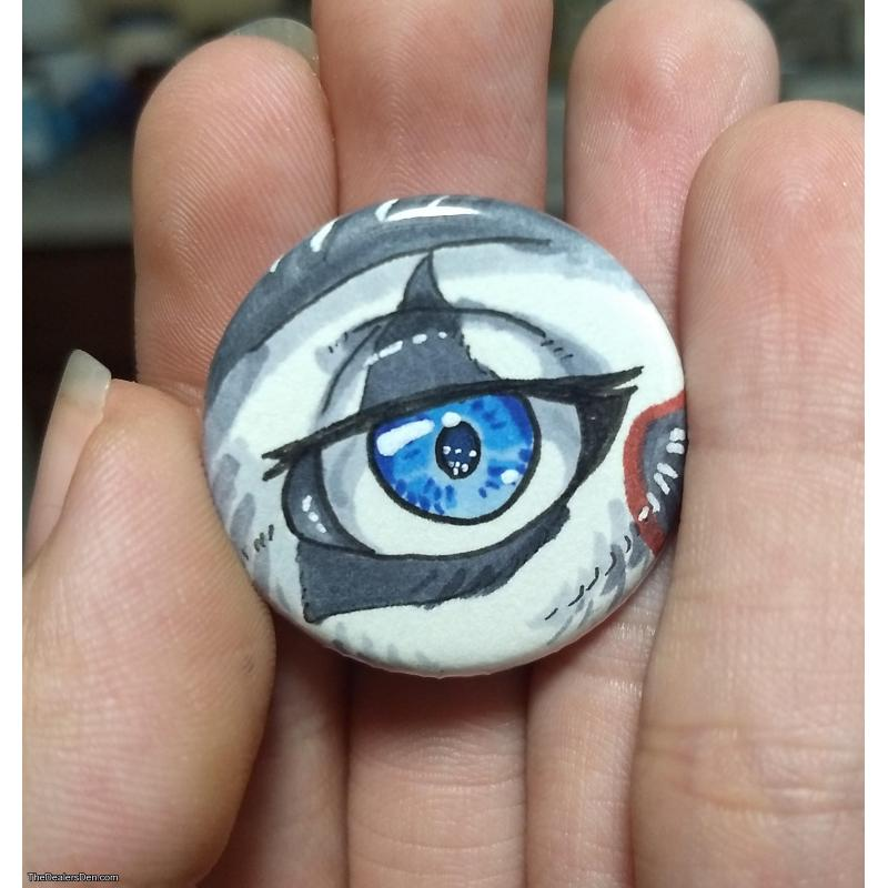 Cat's Eye Pin-back Button