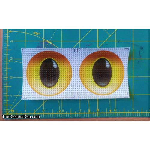 New style Printed eyes - GOLDEN (2½ inch)