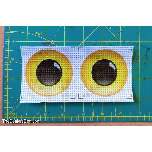 New style Printed eyes - YELLOW (2½ inch)