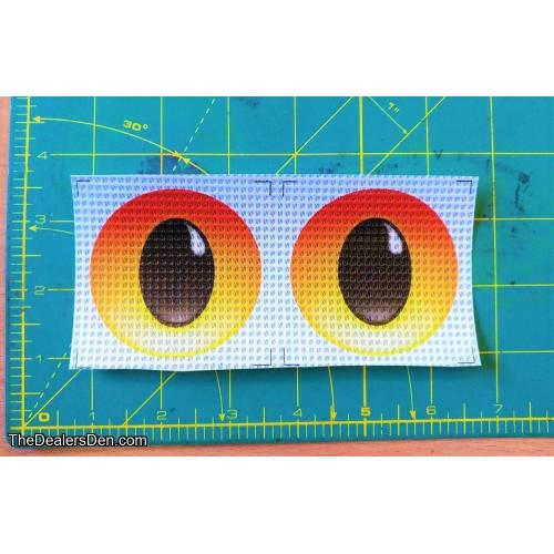 New style Printed eyes - FLAME (2½ inch)