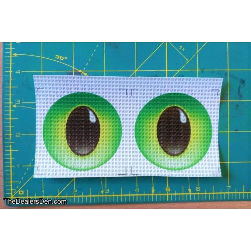 New style Printed eyes - GREEN (2½ inch)