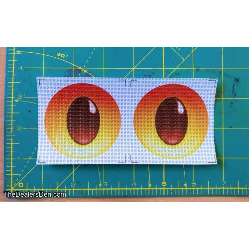 New style Printed eyes - RED (2½ inch)
