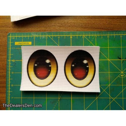 Yellow (oval) - Ver.3 printed eyes