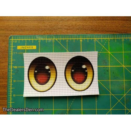 Oval Yellow (s) - Ver.3 Printed eyes