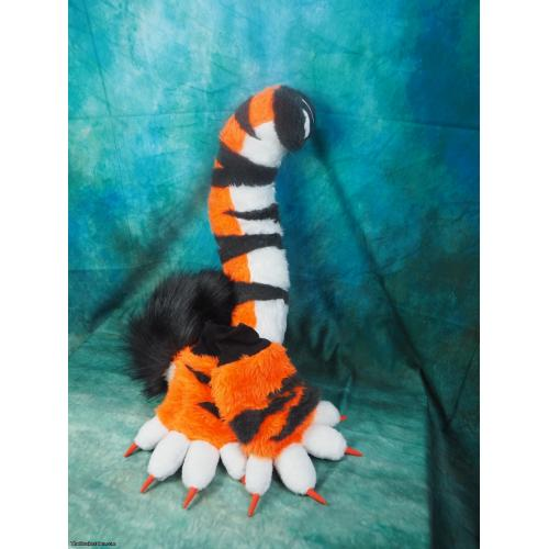 Tiger Fursuit Tail and Paws
