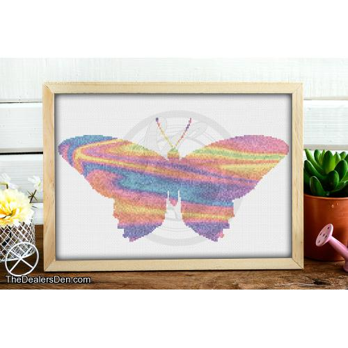 Painted Butterfly Cross Stitch Pattern