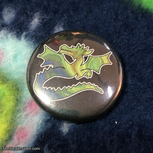 Painted Dragon Needleminder/Magnet Button
