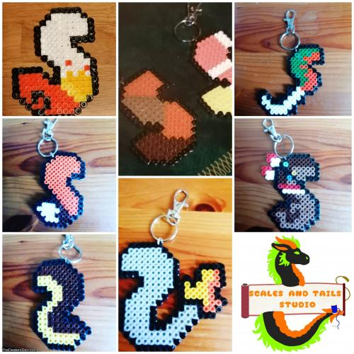 Custom Pixel tail keyring