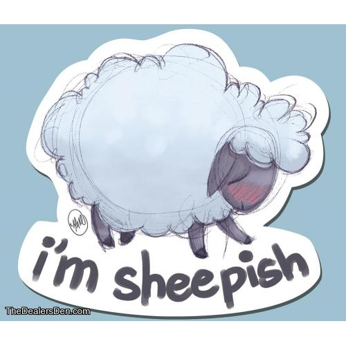 Sheepish Sticker