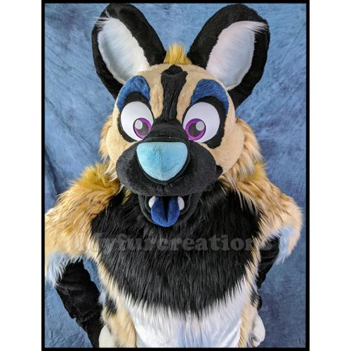 Toony African Wild Dog fullsuit by MyFurCreations