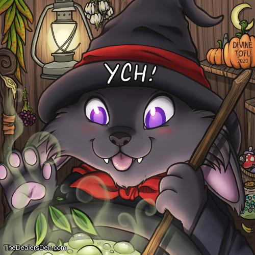 Witchy Cauldron YCH