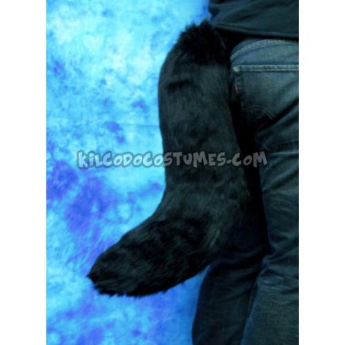 Black Faux Fur Fursuit Tail - Made to Order - by Kilcodo
