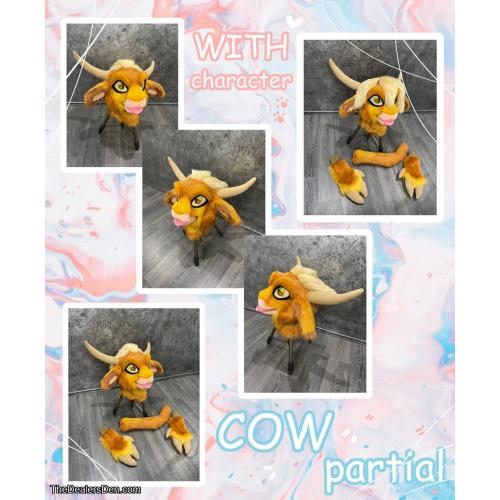 cow partial with character