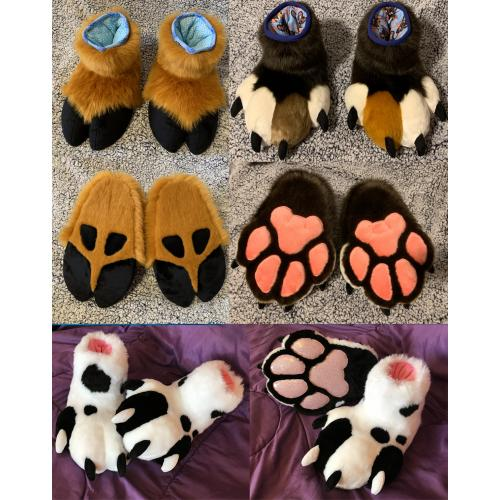Custom plush feetpaws / hooves by Zuri Studios