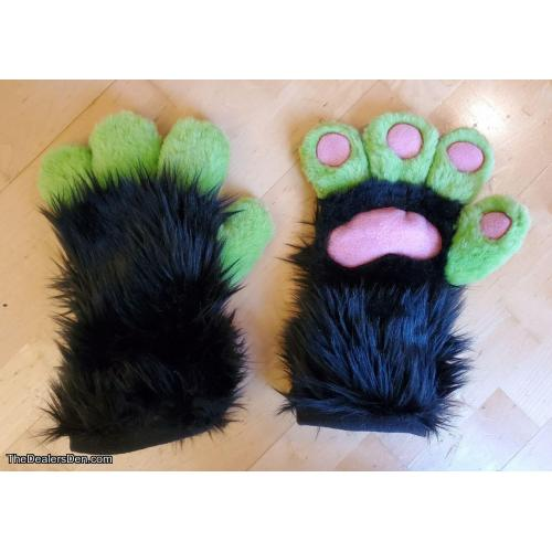 Black and Green Handpaws