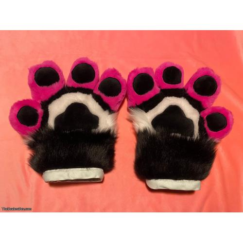 Anthro Mochi Paws - Black   White   Hot Pink