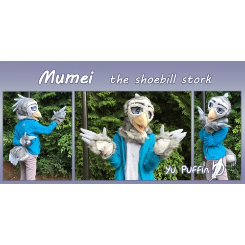 Shoebill Stork Partial Fursuit