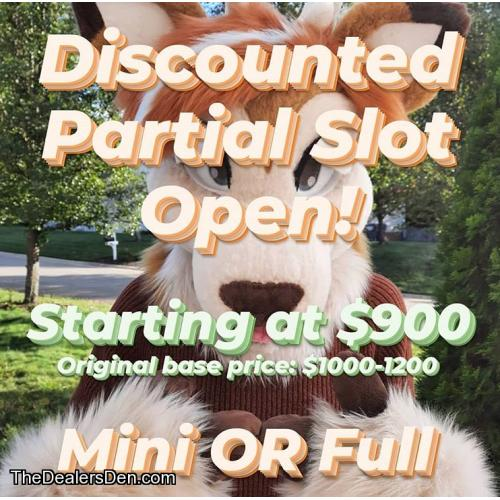 UP TO $300 OFF - Mini or Full partial slot - Furgetful Fae Fursuits