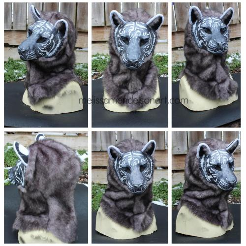 White and Silver Tiger Fursuit Mask (add ons available)