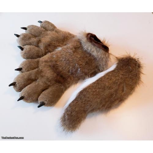 Premade Wolf Puffy Paws & Tail